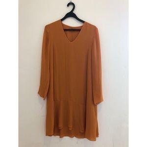 COS Mustard Long Sleeve Dress Size 10
